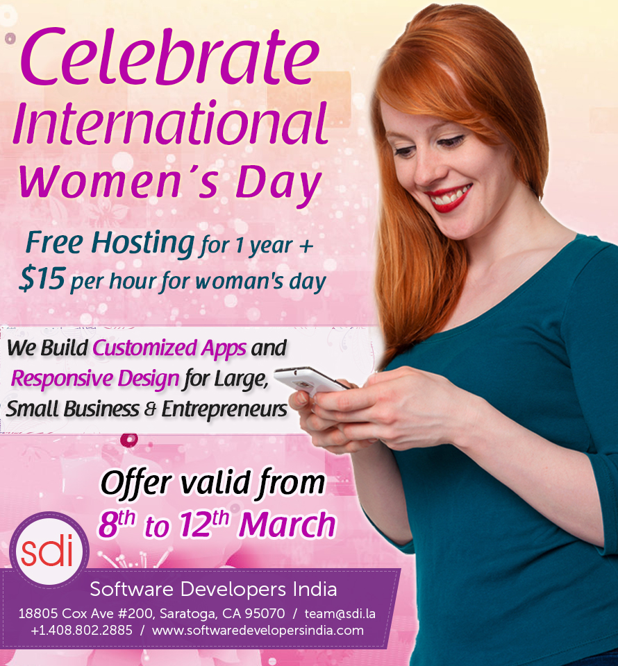 Women's Day Offers on Customized Apps and Responsive Design