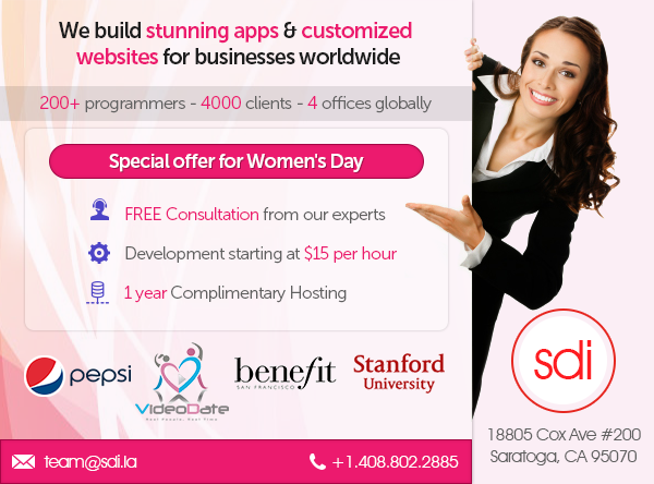 Women's Day Offer on Mobile Apps & Website Development