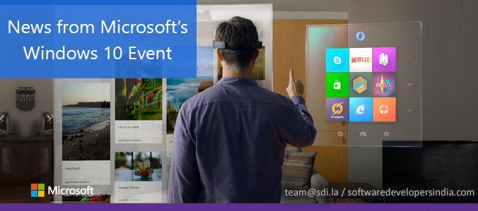 News from Microsoft's Windows 10 Event