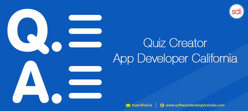 Quiz Creator App Developer California